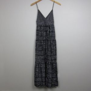 Theory Lyndie silk tiered maxi dress